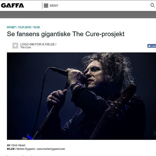 """Se fansens gigantiske The Cure-prosjekt"" at Gaffa.no @gaffa_no  #TheCure #Lodz #Multicam #free #fan #film #project #RobertSmith #rock #pop #indie #goth #alternative #postpunk #80s #90s #music #video #instamusic #concert #live #press #portal #article #norwegian #no #norway @robertsmith @thecure @martinmarszalek"