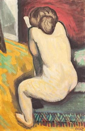Nude with Book - Iosif Iser