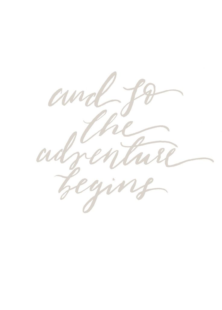 Adventure Print - Inspirational Quote - Travel Wall Art - Nursery Decor - And So The Adventure Begins - Wedding Decor