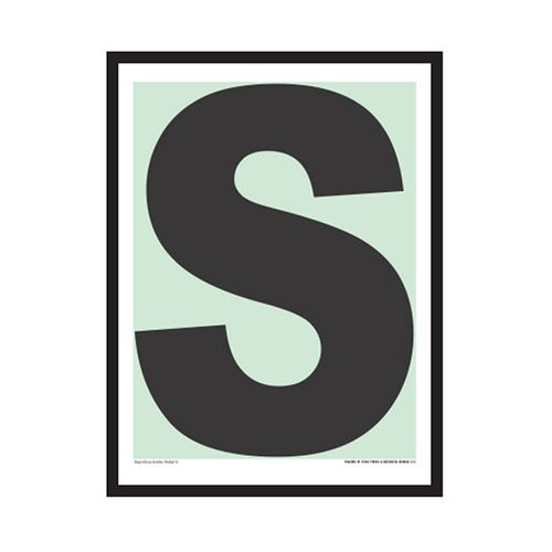 Superlove, Mini Plakat S, Mint/Koksgrå