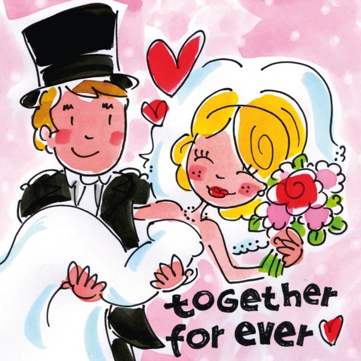 Together forever (bruidspaar) - Blond Amsterdam