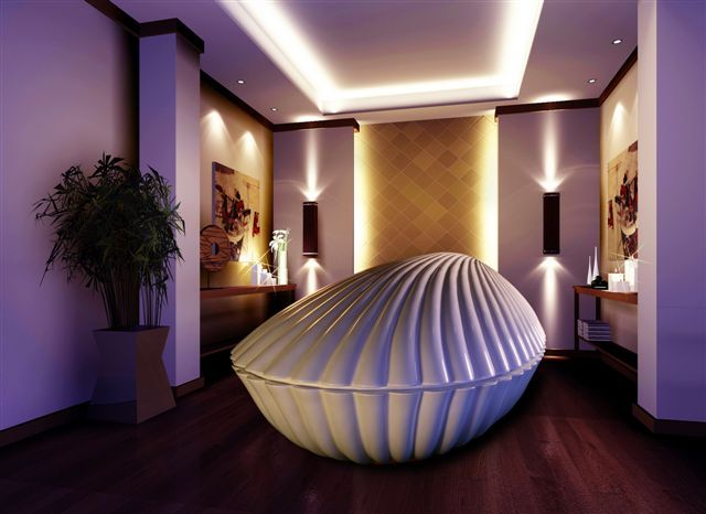 Isolation Shell Tank with the lid closed - so beautiful ...