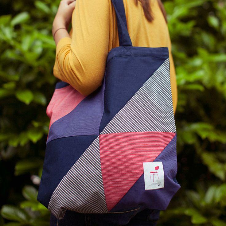 Lorek Mendian Haritu: Bolso 'tote bag' de patchwork