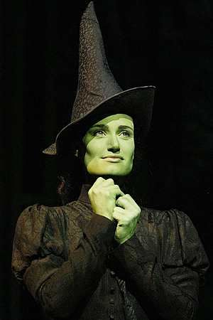 Idina Menzel (Elphaba) in the original West End production