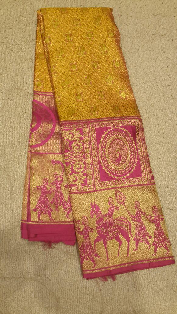 Designer Kanjivaram Silk saree  #Kanjivaramsilk #puresilksaree #indiahandloom