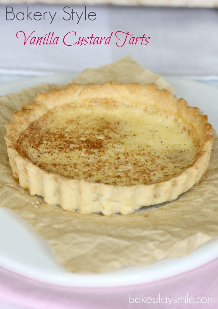 Bakery Style Vanilla Custard Tarts - Bake Play Smile