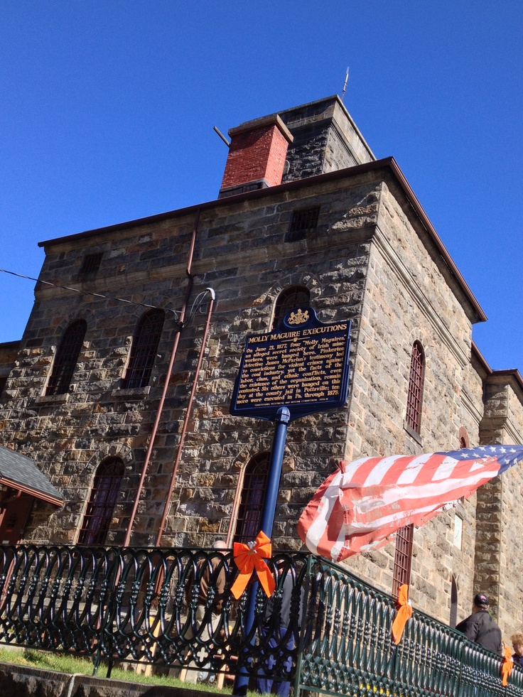 This is the Mauch Chunk Prison in Pennsylvania where several of the supposed Molly Maguires were hung. There's still a handprint on the wall of one cell where Alexander Campbell proclaimed his innocence, and hauntings are well documented here.. http://en.wikipedia.org/wiki/Alexander_Campbell_%28suspected_Molly_Maguire%29