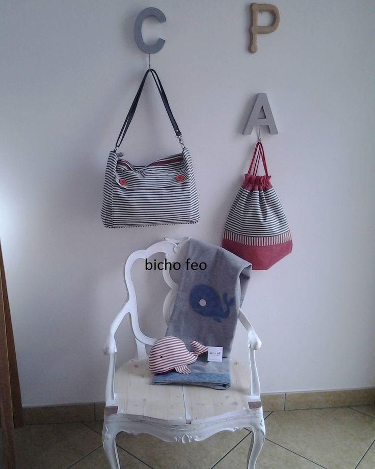 Angoli di casa con righe e balene. http://elbichofeo.blogspot.com https://www.facebook.com/bichofeo.creativita.in.movimento/