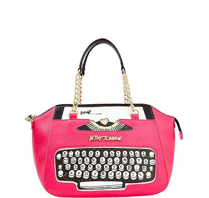 Kitch Typewriter Satchel Betsey Johnson Ugh Want
