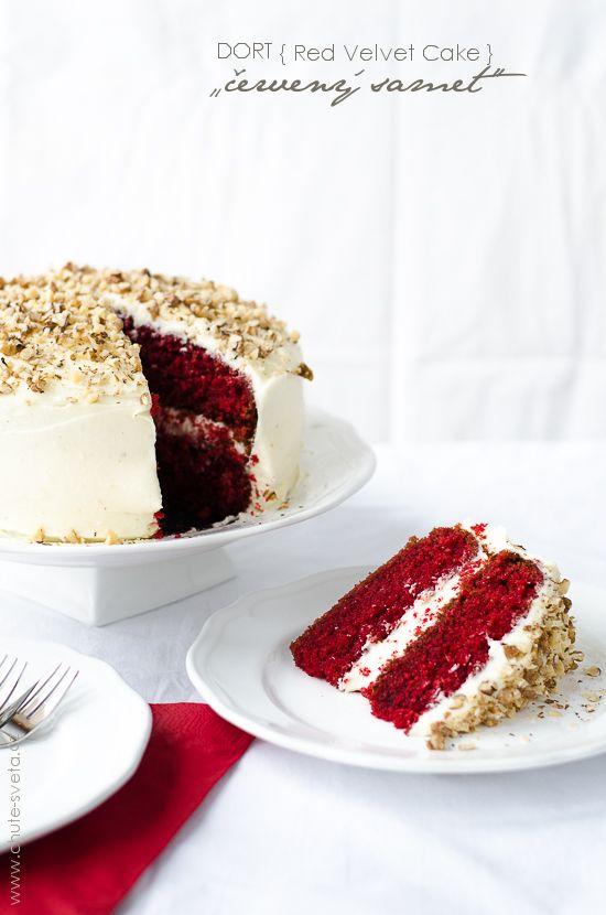 """{ valentýnský } dort """"červený samet"""""""