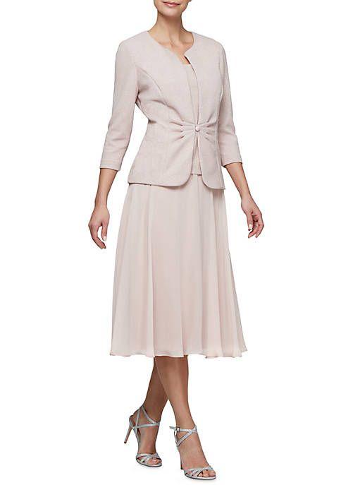 dccd8ea7774 RM Richards Sheer Beaded Jacket Dress