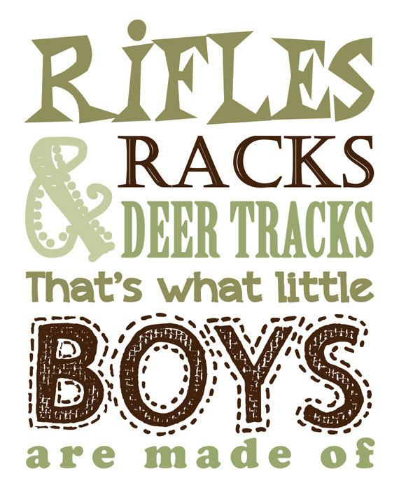Hunting Nursery Decor. Children's Wall Art. Rifles Racks & Deer Tracks that's what little BOYS are made of. Hunting Decor. Boys Hunting Sign...