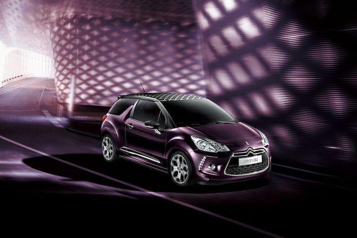 シトロエンDS3 深紫色の限定車「DS Faubourg Addict(フォーブール・アディクト)」 / スポーティなインテリアのDS3は限定100台