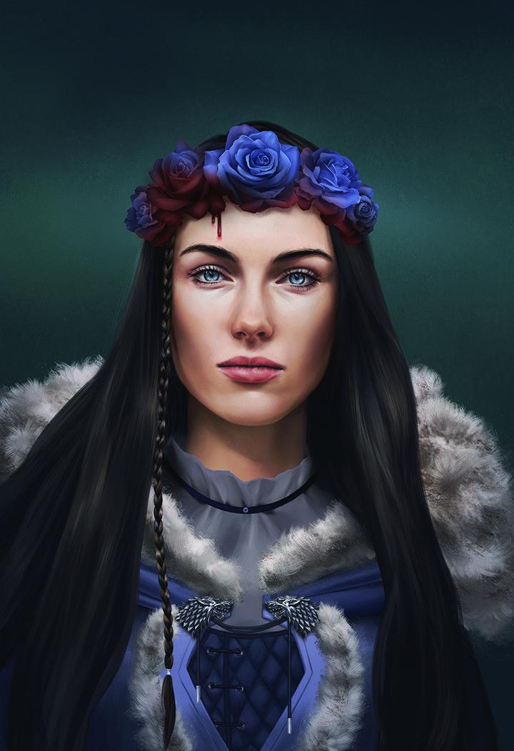 Lovely Digital Illustration of Lyanna Stark by Louvie Haller Like us on Facebook