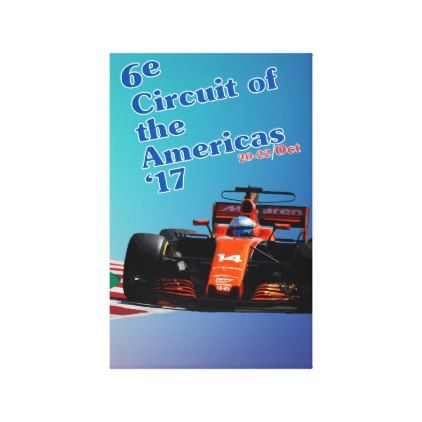 USA Grand Prix 2017 Mclaren Fernando Alonso Canvas Print - decor gifts diy home & living cyo giftidea