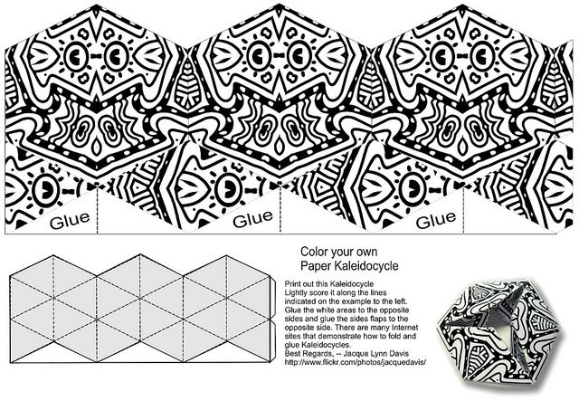 kaleidocycle color your own by davis.jacque, via Flickr