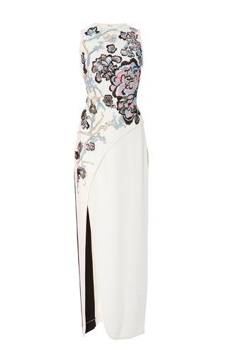 Sleeveless Dress With Embroidery by ELIE SAAB for Preorder on Moda Operandi