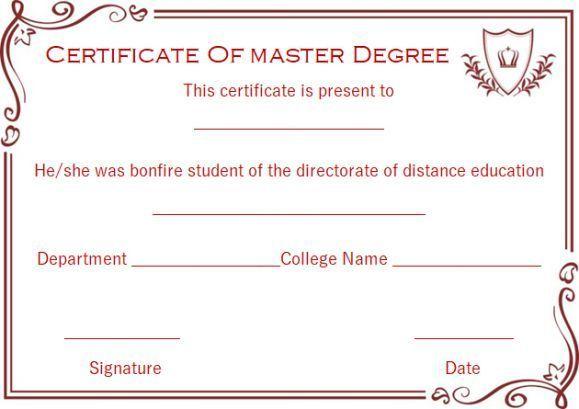 Master degree diploma certificate templates #masterdegree