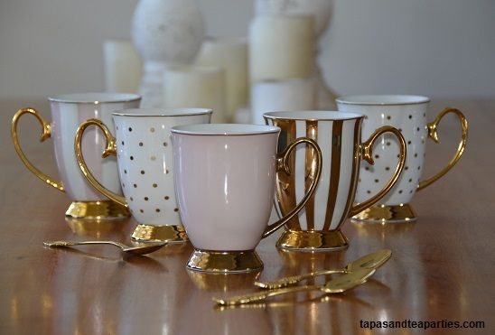 Do you like this combination of pastels and gold?  Elegant and relaxing for your afternoon tea or coffee with friends and family.  See our online shop for these and more.