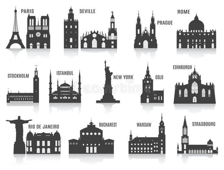 Resultado de imagen para siluetas de ciudades famosas