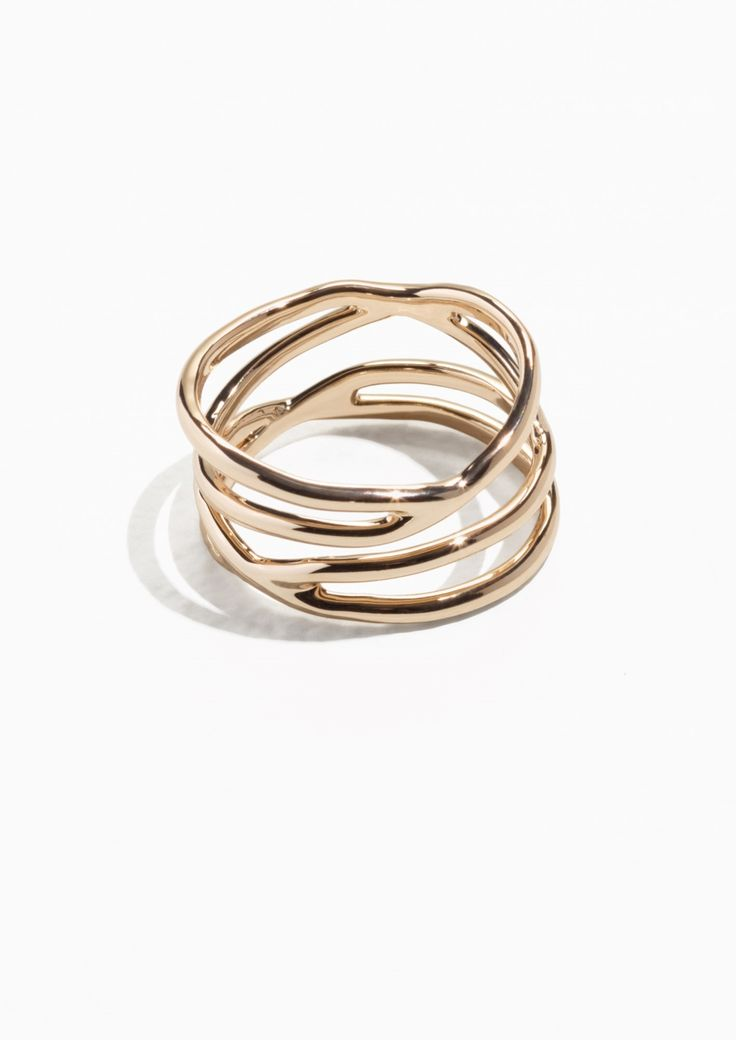 & Other Stories Stacked Gold Ring in Gold