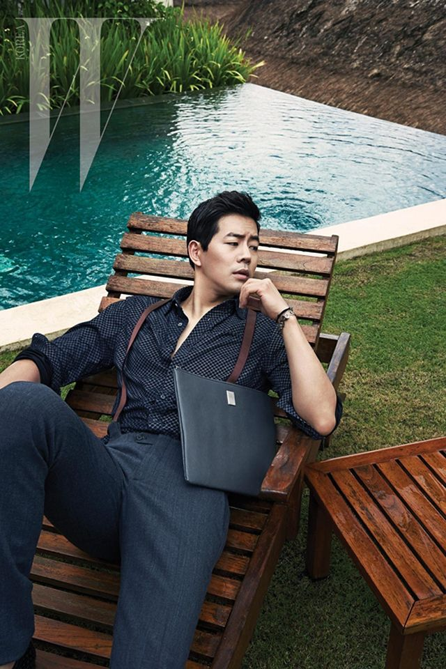Lee Sang Yoon Lounges by the Pool for W Korea