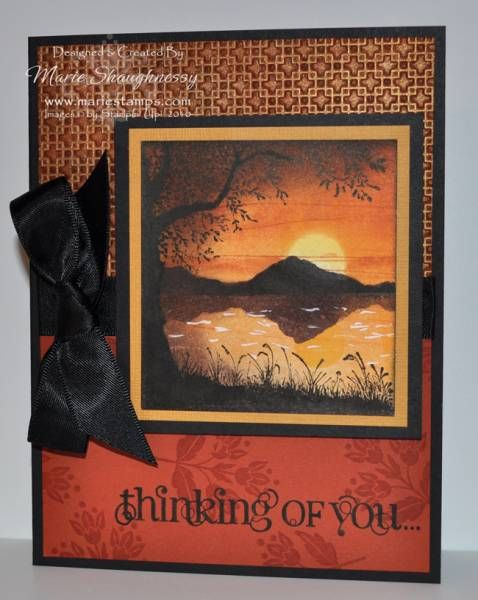 Miniature Copper Sunset by Card Shark - Cards and Paper Crafts at Splitcoaststampers