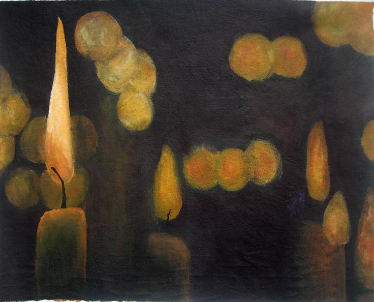 """Distant Blur"" by Cholena Drew Hughes, acrylic on canvas, 27x35cm"