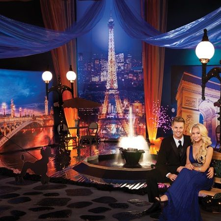Viva La France Complete Prom Theme-Includes photo backdrop of the Eiffel Tower. Great, new, Paris theme for Prom 2016!
