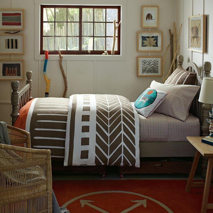 Persimmon arrow rug serena lily great boys room Earth tone bedroom