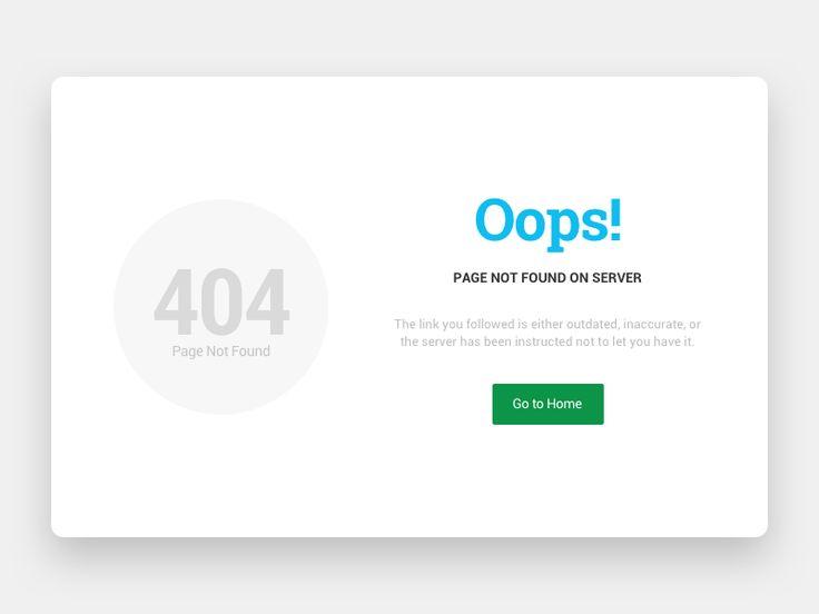#4 - 404 Error Page - UI Concept