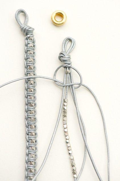 DIY Home Cuteness - Leather Bracelet Tutorial