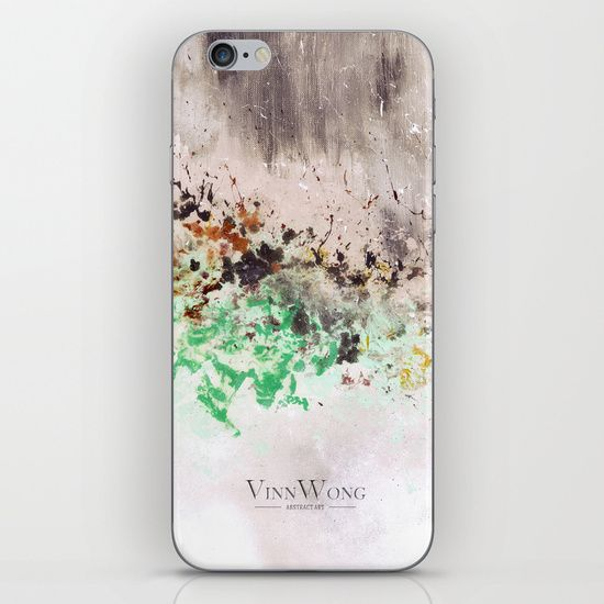 Japanese art inspired green and grey abstract iPhone and iPod Skins by Vinn Wong | Full collection vinnwong.com | Visit the shop or Pin it For Later!