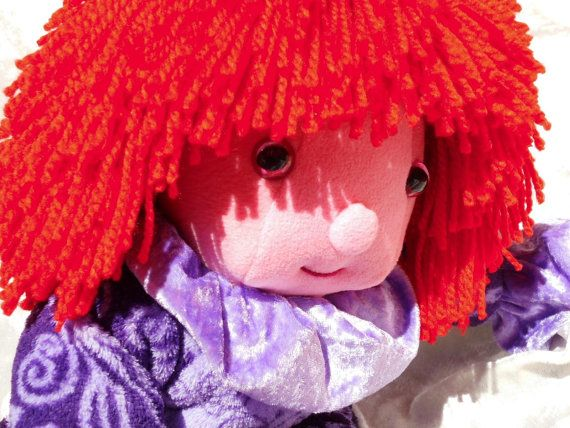 Wild red HAIR soft DOLL  Home Decor Stuffed Toy by TALLhappyCOLORS, €80.00