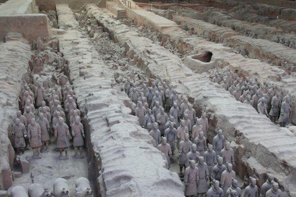 Терракотовая Армия в провинции Шэньси