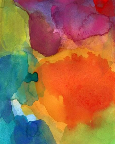 large size art print of abstract watercolor painting inspired by the beauty and surprise of change.    The original painting has been sold.    The