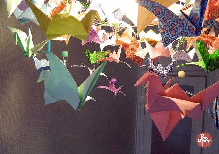 116 best images about origami birds on pinterest origami - Lustre en papier ...