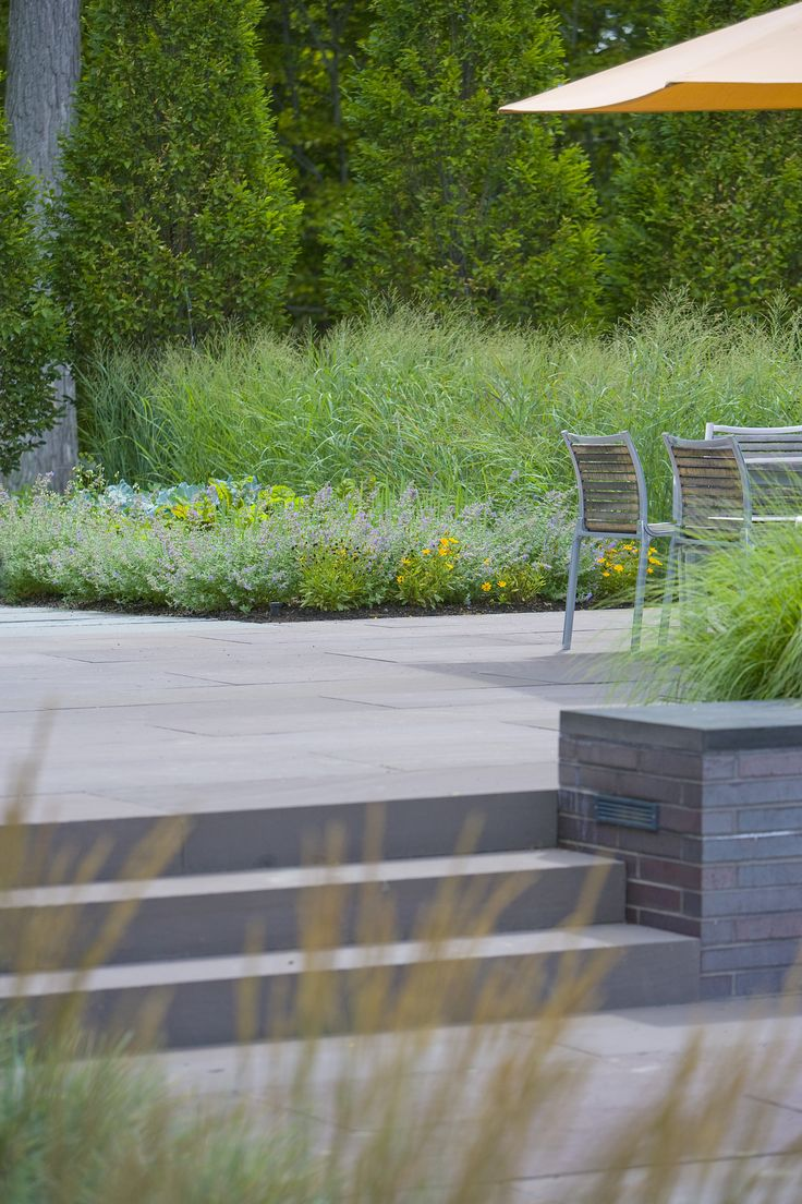 Bluestone Steps and Kitchen Garden | Smith Point Residence | Landscape Architect: H. Keith Wagner Partnership | Image Credit: Westphalen Photography