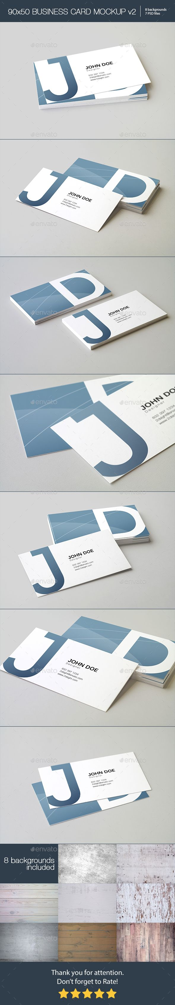 90x50 Business Card Mockup — Photoshop PSD #realistic #business • Available here → https://graphicriver.net/item/90x50-business-card-mockup/18927239?ref=pxcr