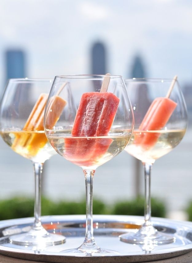 Dip popsicles in Prosecco. | 60  Things You Absolutely Have To Do This Summer