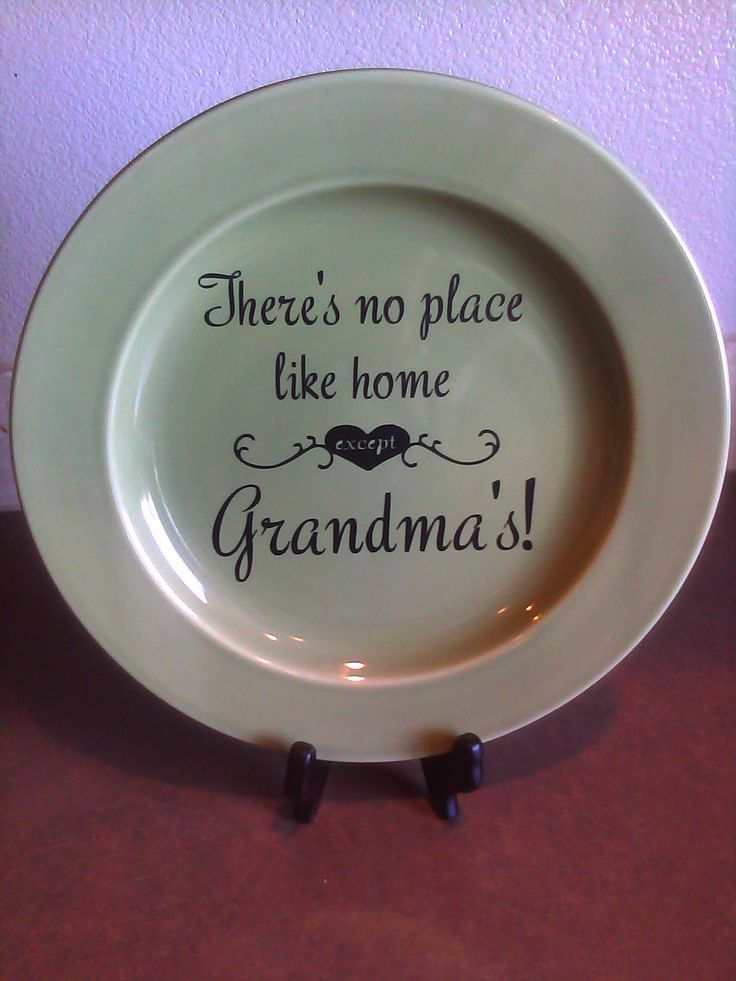 fun christmas projects with vinyl | Fun with Vinyl- Grandma's Plate