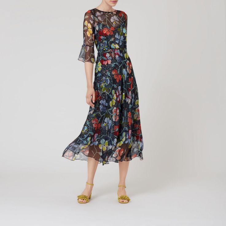 Buy Phia Navy Silk Dress | Clothing | L.K.Bennett