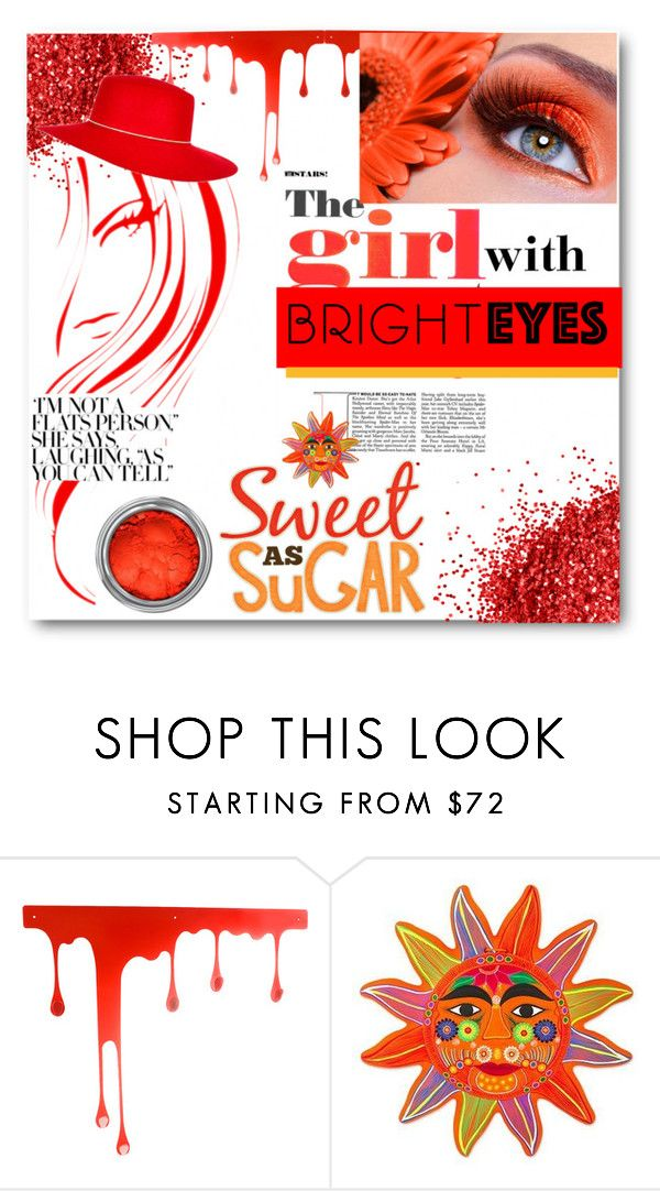 """""""The Girl with Bright eyes!"""" by deeppurplesea on Polyvore featuring beauty, Pulpo, NOVICA, brighteyes and BrightOrangeeyeshadow"""