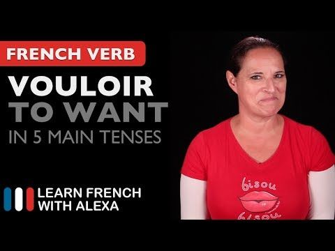 (61) Vouloir (to want) in 5 Main French Tenses - YouTube