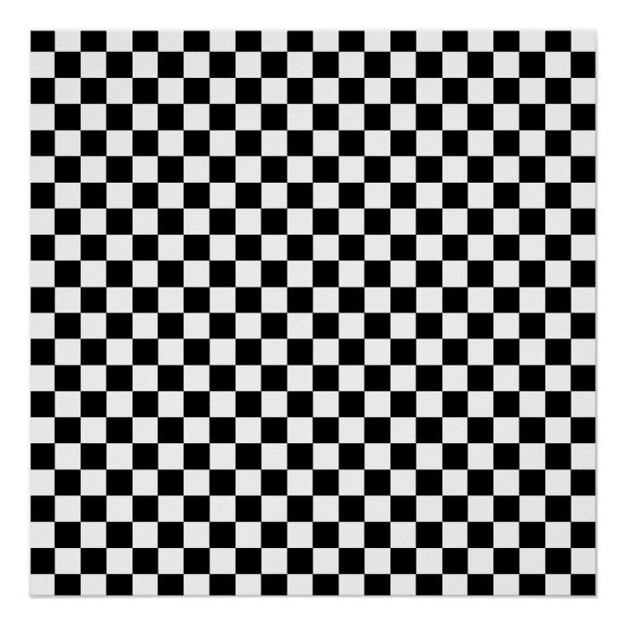 Checkered Poster Zazzle Com In 2021 Black And White Wallpaper Black And White Background Black And White Aesthetic