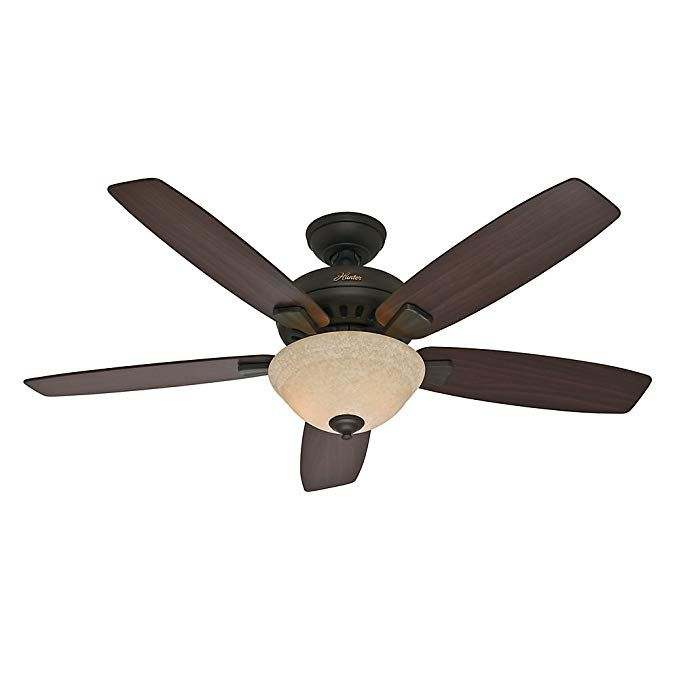 Hunter Indoor Ceiling Fan With Light And Pull Chain Control