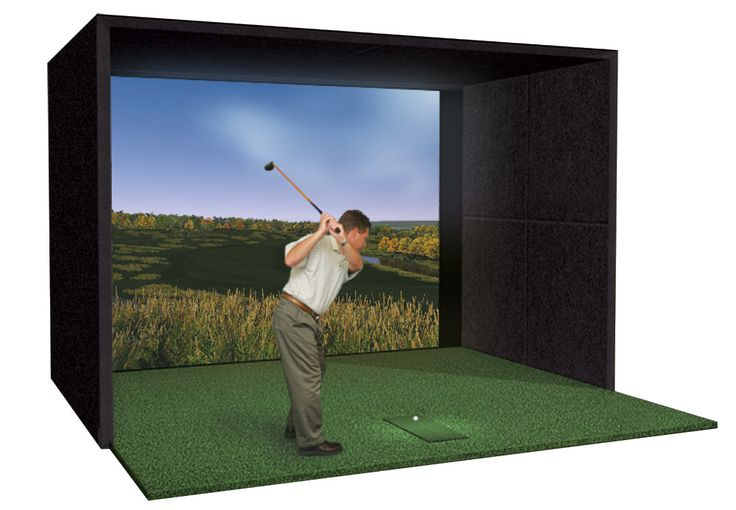 254 best golf training aids images on pinterest golf for Golf simulator room dimensions