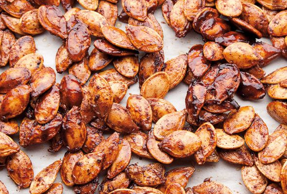 Spiced Pumpkin Seeds | Recipe | Olives, Cayenne peppers ...