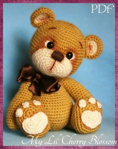 My Lil' Teddy Bear Amigurumi Pattern  Bear par Mylilcherryblossom