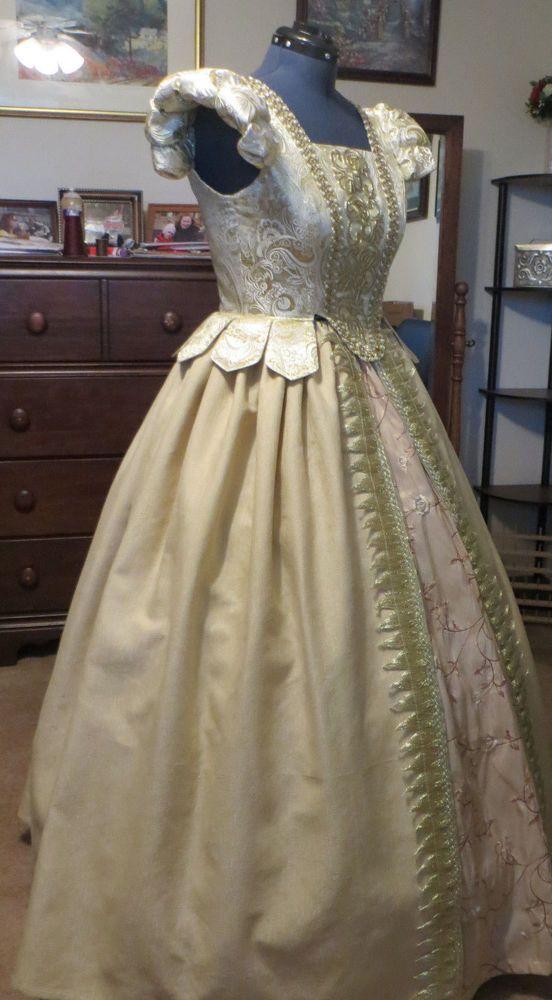 Renaissance Dress Tudor Anna Boleyn cosplay Costume Ball Noble royal  gown sz 14 #Unbranded #CompleteOutfit